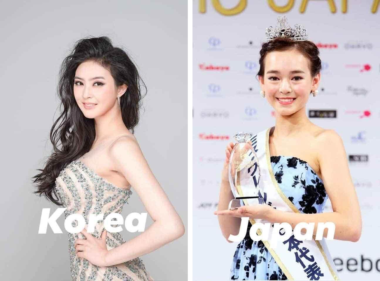 韩国和日本世界小姐