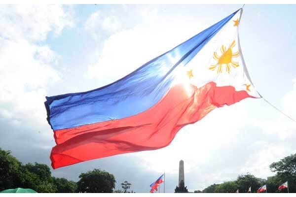 飘扬的菲律宾国旗