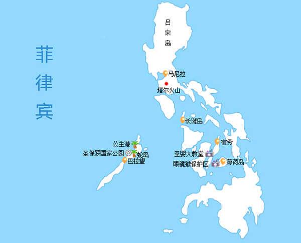 菲律宾火山喷发,塔尔火山地图