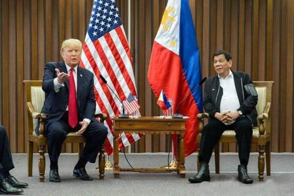 菲律宾总统着装,杜特尔特会见特朗普