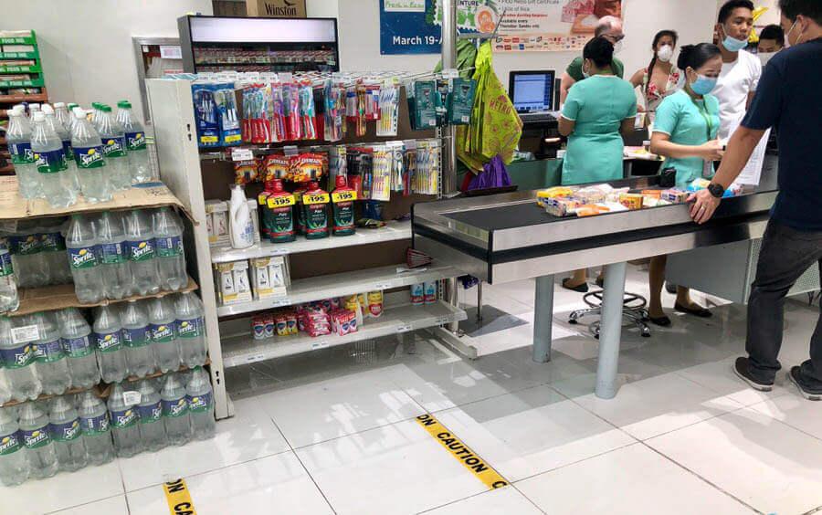 菲律宾疫情下的超市